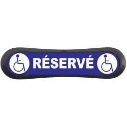 """Plaque d'identification de place de parking """"Parking Réservé aux Handicapé"""""""