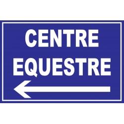 Panneau centre équestre à gauche