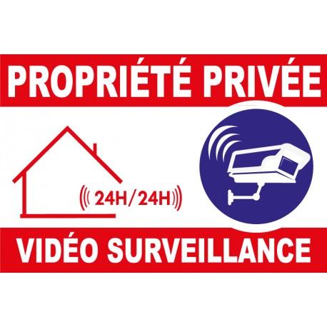 Panneau Propriété vidéo surveillance