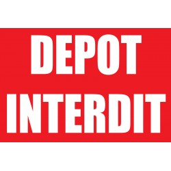Dêpot interdit