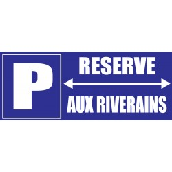 Parking réservé aux riverains