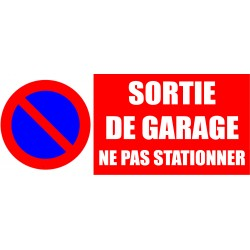 Sortie de garage ne pas stationner