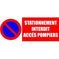 stationnement interdit accés pompiers