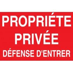 Proprièté privée défense d'entrée