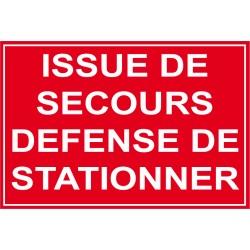 Issue de secours défense de stationner