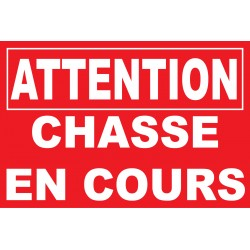 Attention chasse a cours