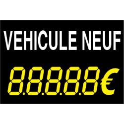 Panneau de vente véhicule neuf