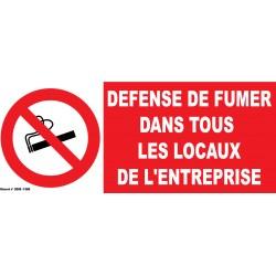 Défense de fumer dans tous les locaux de l'entreprise