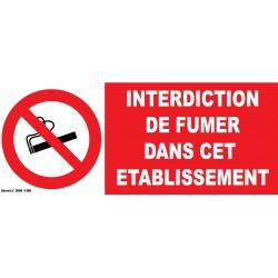 Interdiction de fumer dans cet établissement