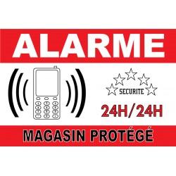 "Panneau ""alarme magasin protégé"""