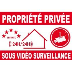 Proprièté privée sous vidéo surveillance
