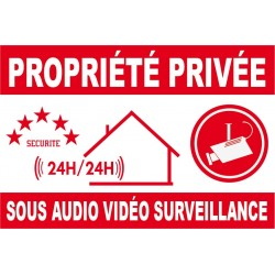 Proprièté privée sous audio vidéo surveillance