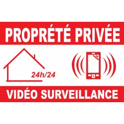 Panneau propriété privée alarm vidéo surveillance