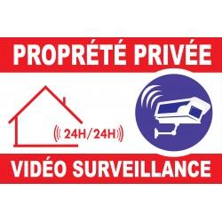 Panneau propriété privée vidéo surveillance