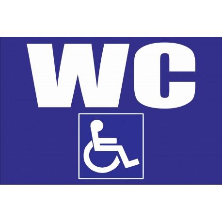 Panneau wc handicapé