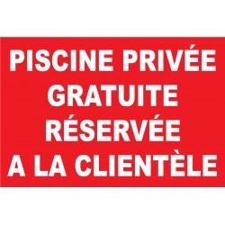 Panneau privée gratuite réservée a la clientèle