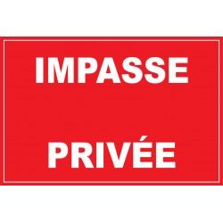 Panneau impasse privée