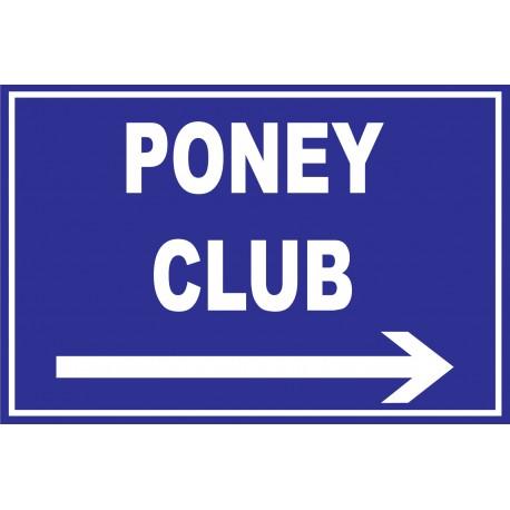 Panneau poney club a droite