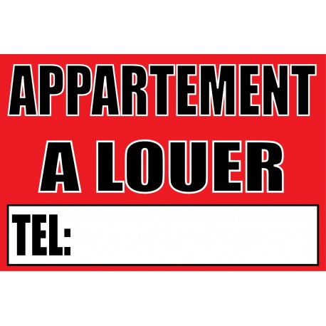 Panneau appartement a louer