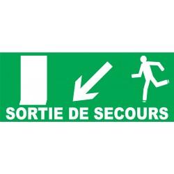 Sortie De Secours à Gauche En Bas Avec Porte - Porte de secours