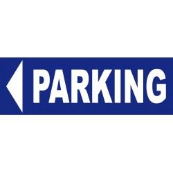 Panneau parking a gauche