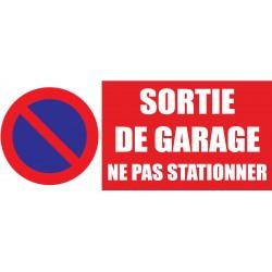 Panneau sortie de garage ne pas stationner