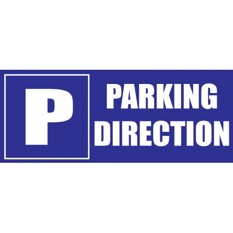 Panneau parking direction
