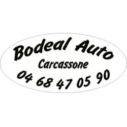 Signature de coffre automobile ovale