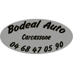 Signature de coffre automobile ovale avec fond gris métal