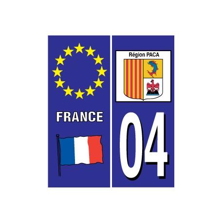 Sticker pour plaque d'immatriculation département 03