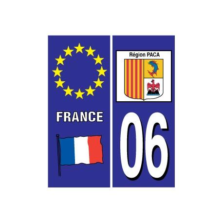 Sticker pour plaque d'immatriculation département 05
