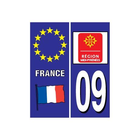 Sticker pour plaque d'immatriculation département 10