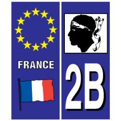 Sticker pour plaque d'immatriculation département 972