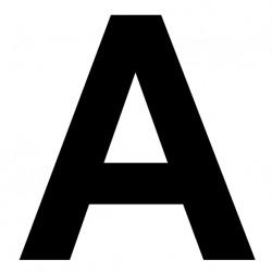 """Lettre adhésive """"A"""""""