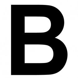 """Lettre adhésive """"B"""" Hauteur 180mm"""