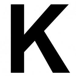 """Lettre adhésive """"K"""" Hauteur 180mm"""