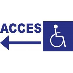 Panneau accès handicapés direction gauche