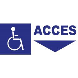 Panneau accès handicapés en bas