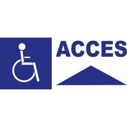 Panneau accès handicapés en haut