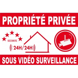 Propriété privée sous vidéo surveillance