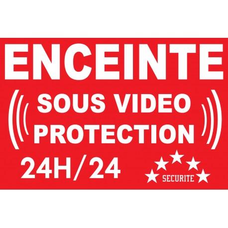 """Panneau """"bâtiment sous vidéo protection"""""""