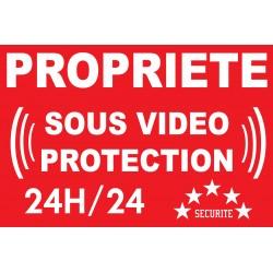 """Panneau """"propriété sous vidéo protection"""""""