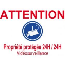 Panneau Attention propriété protégée