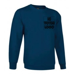 Impression sur sweat-shirt bleu clair