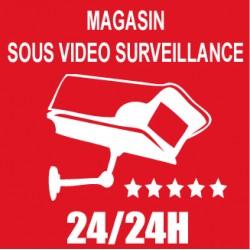 Magasin sous vidéo surveillance