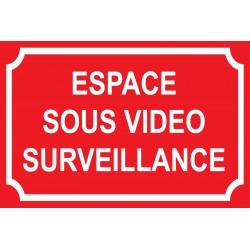 Espace sous vidéo surveillance